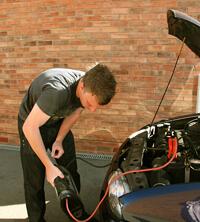 Jump start car battery